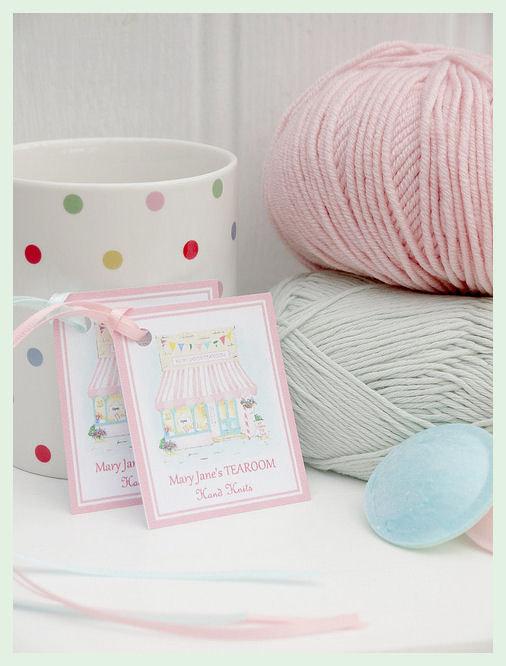 MJT Handmade Gift Tags X 4 / MJT Toy Knitting Patterns/ Plaster Pink ...