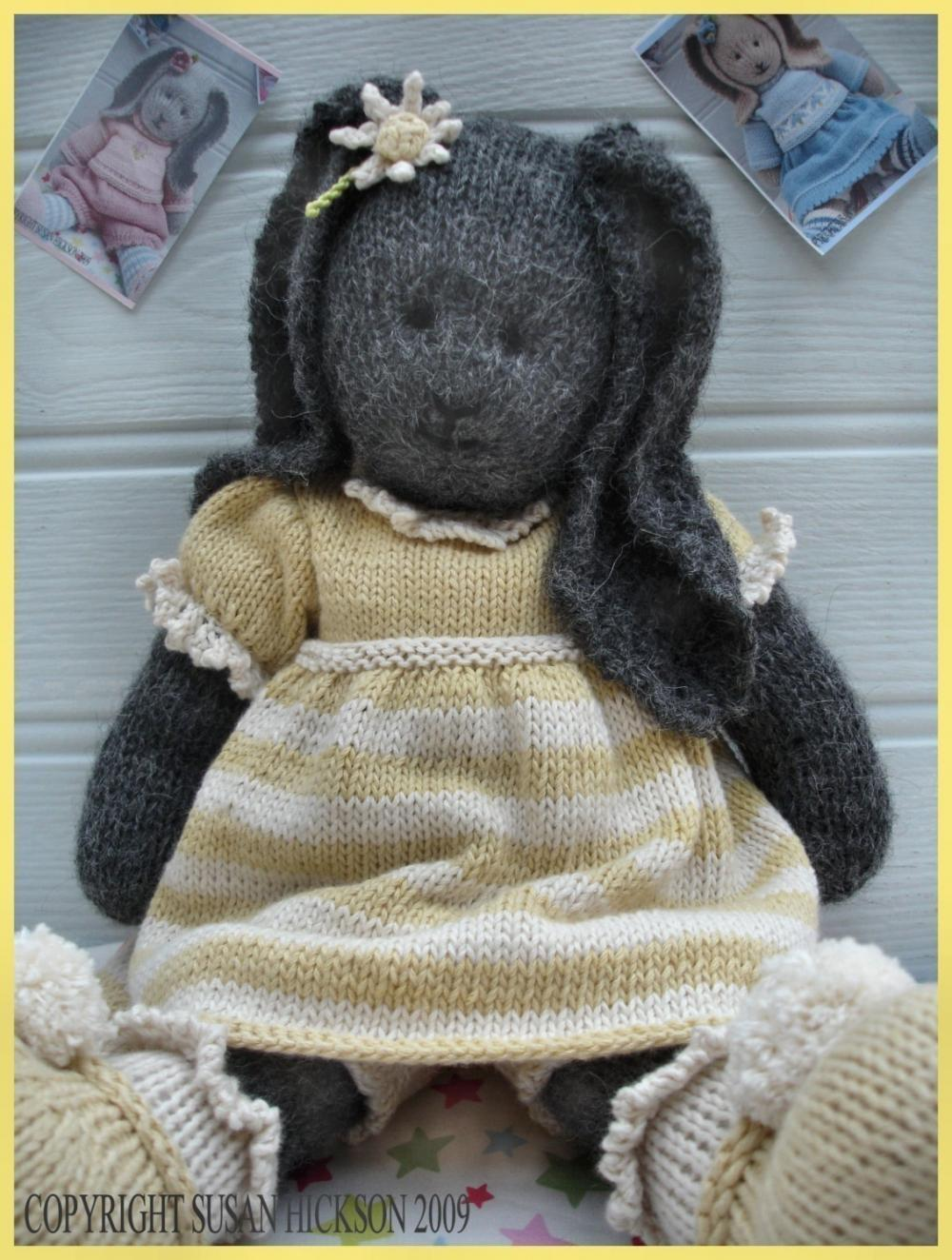 DAISY Rabbit / Bunny/ Knitted Toy PDF Email Pattern/ Toy Knitting ...