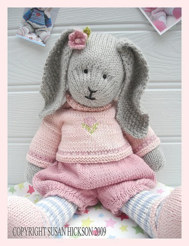 Primrose Rabbit/ Bunny/Toy Knitting Pattern/ Pdf/ Email Pattern