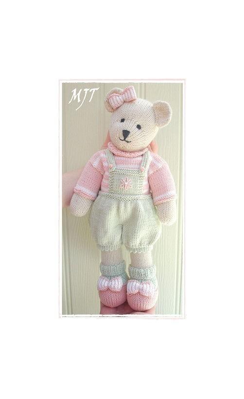 Candy Bear Toy Teddy Knitting Pattern Pdf Email Pattern Plus