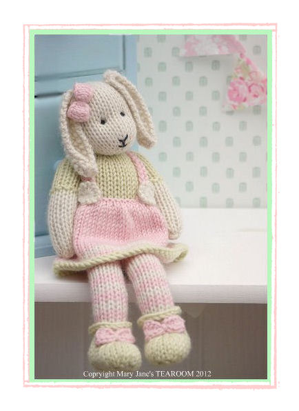 Lily A Spring Baby Bunny Email Pdf Toy Knitting Pattern New